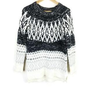 Target Merona Fair Isle Tunic Sweater Nordic